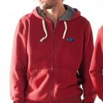 Sweatshirt vintage à zip et à capuche