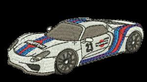 Broderie Porsche 918 Martini