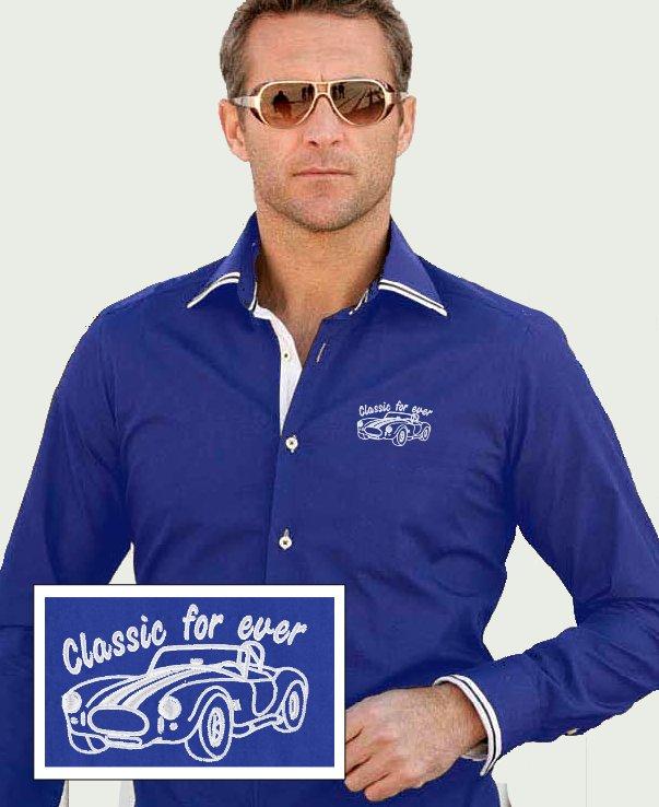 chemise bleu roi newman avec ac cobra speed boutique. Black Bedroom Furniture Sets. Home Design Ideas