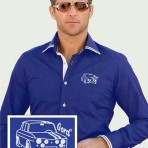 Chemise bleu roi Newman avec Gordini