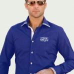 Chemise bleu roi Newman